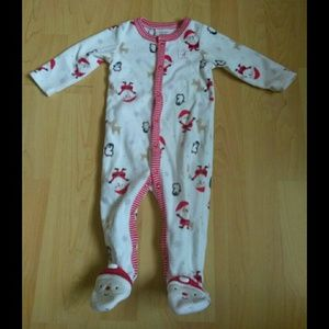 CHRISTMAS FOOTED PAJAMAS FOR BABY FROM CARTER'S 9M